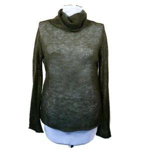 Banana Republic Olive Wool Turtleneck Sweater